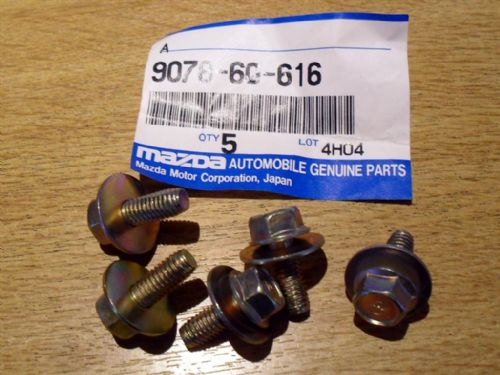 Bolt & washer, M6, Mazda MX-5 mk1, 16mm, pack of 5, 907860616
